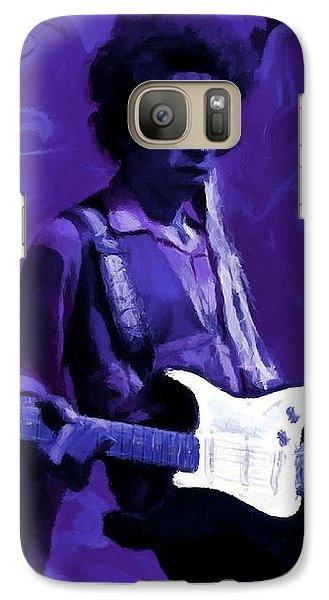 Galaxy Case featuring the painting Jimi Hendrix Purple Haze P D P by David Dehner