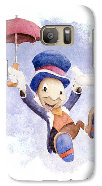 Jiminy Cricket With Umbrella Galaxy Case by Andrew Fling