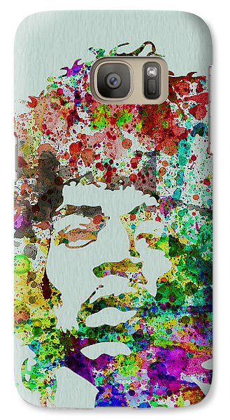 Jimmy Hendrix Watercolor Galaxy S7 Case by Naxart Studio