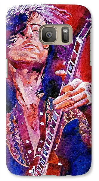Musicians Galaxy S7 Case - Jimmy Page by David Lloyd Glover