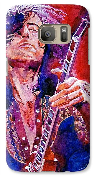 Jimmy Page Galaxy Case by David Lloyd Glover