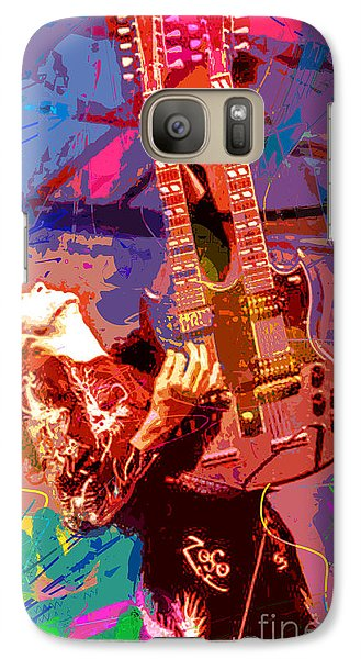 Jimmy Page Stairway To Heaven Galaxy S7 Case by David Lloyd Glover