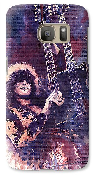 Galaxy S7 Case - Jimmy Page  by Yuriy Shevchuk