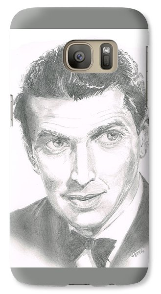 Galaxy Case featuring the drawing Jimmy Stewart by Andrew Gillette