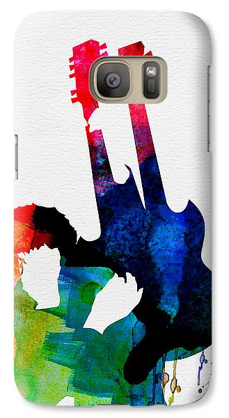 Jimmy Watercolor Galaxy S7 Case by Naxart Studio