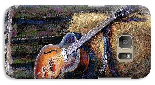 Galaxy Case featuring the painting Jim's Guitar by Andrew King
