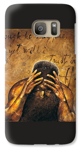Galaxy Case featuring the painting Job by Christopher Marion Thomas