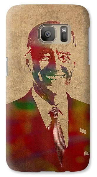 Joe Biden Watercolor Portrait Galaxy S7 Case
