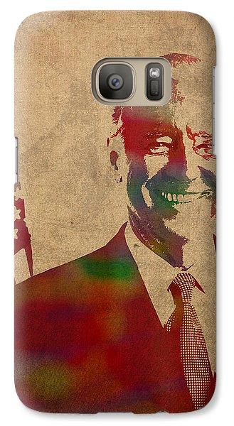 Joe Biden Watercolor Portrait Galaxy S7 Case by Design Turnpike