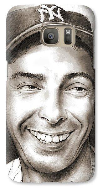 Professional Baseball Teams Galaxy S7 Case - Joe Dimaggio by Greg Joens