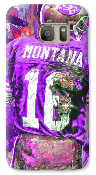 Galaxy Case featuring the photograph Joe Montana 16 San Francisco 49ers Football by David Haskett