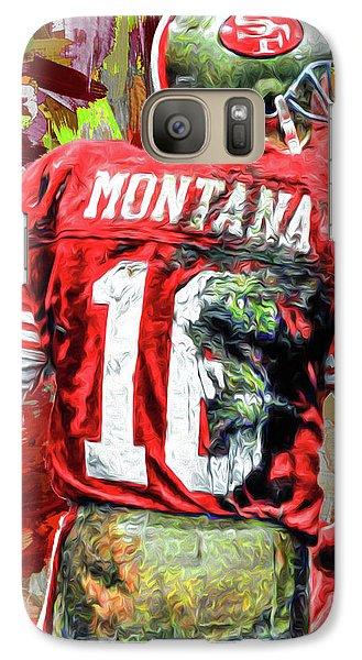 Joe Montana Football Digital Fantasy Painting San Francisco 49ers Galaxy S7 Case by David Haskett