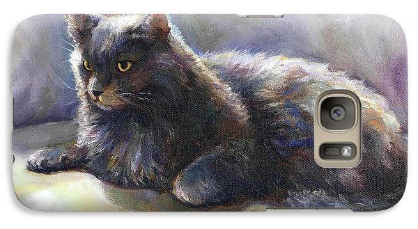 Galaxy Case featuring the painting Joey by Bonnie Goedecke