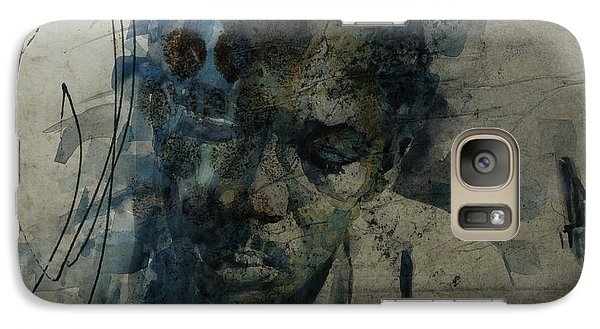 Galaxy Case featuring the mixed media John Coltrane / Retro by Paul Lovering
