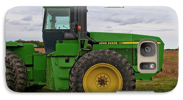 Galaxy Case featuring the photograph John Deere Green 3159 by Guy Whiteley