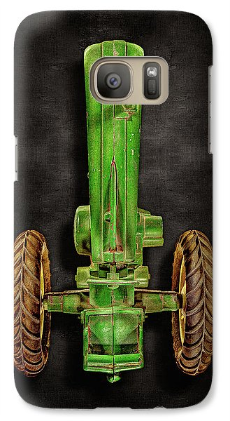 Galaxy Case featuring the photograph John Deere Top On Black by YoPedro