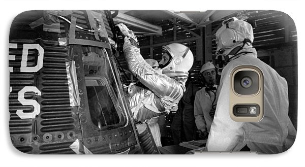 John Glenn Entering Friendship 7 Spacecraft Galaxy S7 Case by War Is Hell Store