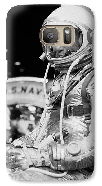 Astronaut Galaxy S7 Case - John Glenn Wearing A Space Suit by War Is Hell Store