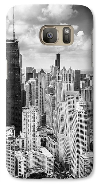 John Hancock Building In The Gold Coast Black And White Galaxy S7 Case