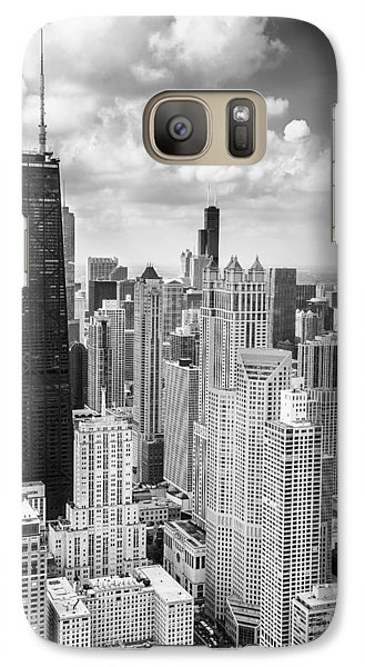 John Hancock Building In The Gold Coast Black And White Galaxy S7 Case by Adam Romanowicz