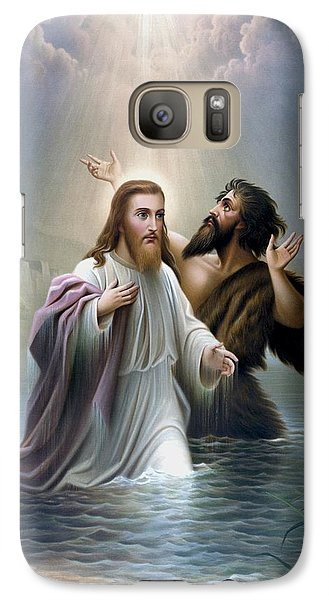 Dove Galaxy S7 Case - John The Baptist Baptizes Jesus Christ by War Is Hell Store
