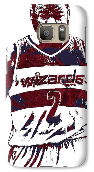 Wizard Galaxy S7 Case - John Wall Washington Wizards Pixel Art 5 by Joe Hamilton