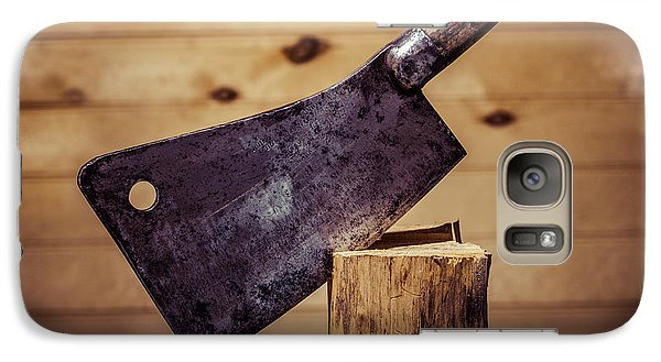 Galaxy Case featuring the photograph Johne Smith And Sons Meat Cleaver by Chris Bordeleau