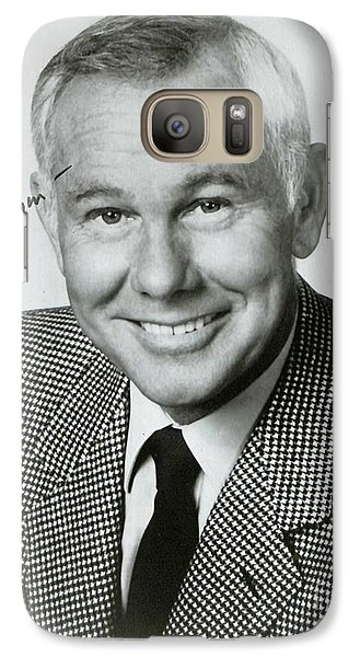 Johnny Carson Autographed Print Galaxy S7 Case