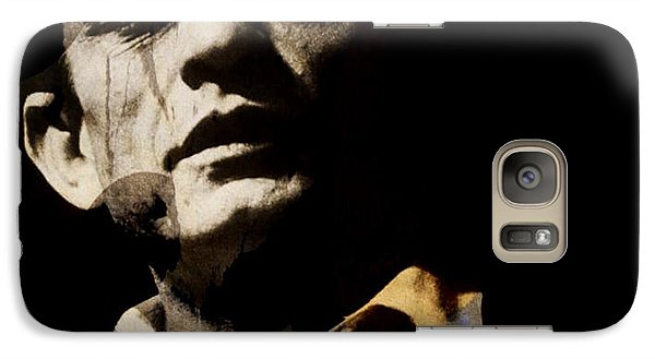 Johnny Cash Galaxy S7 Case - Johnny Cash - I Walk The Line  by Paul Lovering