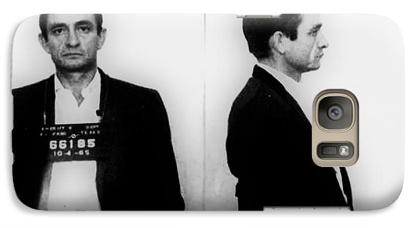 Johnny Cash Galaxy S7 Case - Johnny Cash Mug Shot Horizontal by Tony Rubino