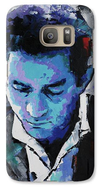 Johnny Cash Galaxy S7 Case by Richard Day