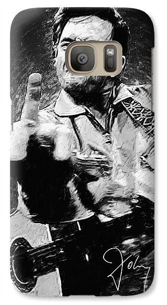 Johnny Cash Galaxy S7 Case by Taylan Apukovska
