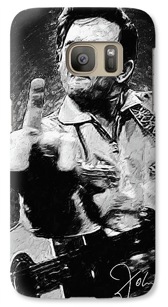 Rock And Roll Galaxy S7 Case - Johnny Cash by Zapista