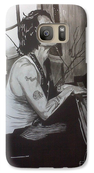 Galaxy Case featuring the painting Johnny Depp 1 by Justin Moore