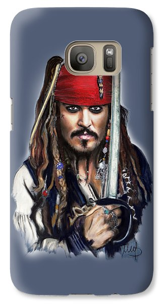 Johnny Depp As Jack Sparrow Galaxy S7 Case by Melanie D