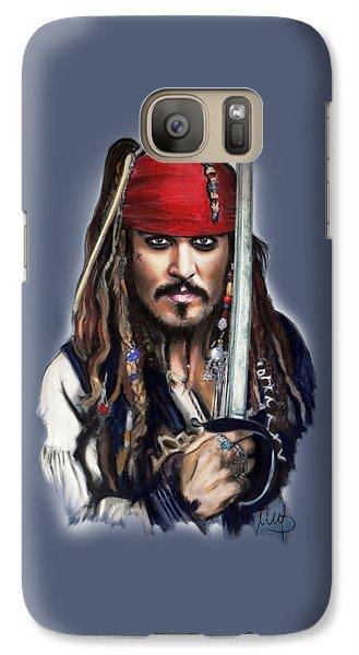 Johnny Depp As Jack Sparrow Galaxy Case by Melanie D