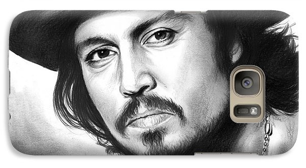Johnny Depp Galaxy S7 Case by Greg Joens