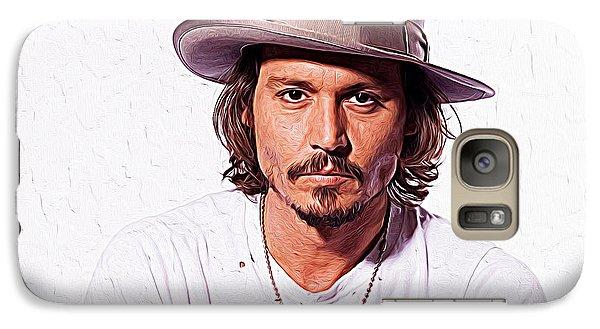 Johnny Depp Galaxy S7 Case by Iguanna Espinosa