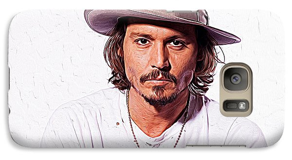 Johnny Depp Galaxy S7 Case by Iguanna Espinosa