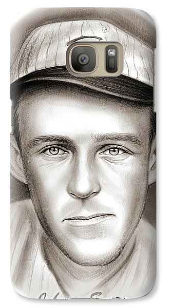 Chicago Cubs Galaxy S7 Case - Johnny Evers by Greg Joens