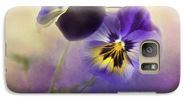 Galaxy Case featuring the photograph Johnny Jump Up by Theresa Tahara