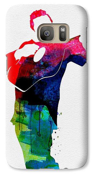 Johnny Cash Galaxy S7 Case - Johnny Watercolor by Naxart Studio
