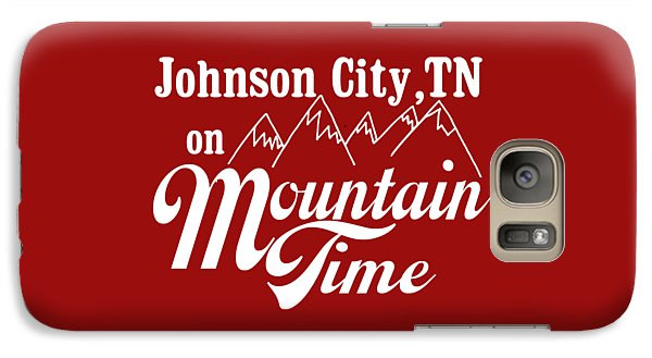Galaxy Case featuring the digital art Johnson City Tn On Mountain Time by Heather Applegate