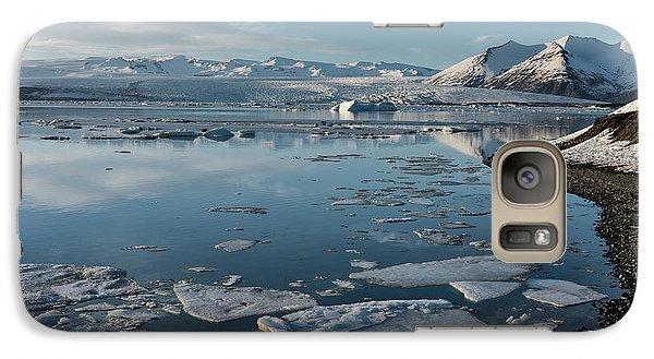 Galaxy Case featuring the photograph Jokulsarlon Ice Lagoon - Iceland by Sandra Bronstein