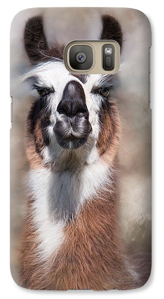 Galaxy Case featuring the photograph Jolly Llama by Robin-Lee Vieira