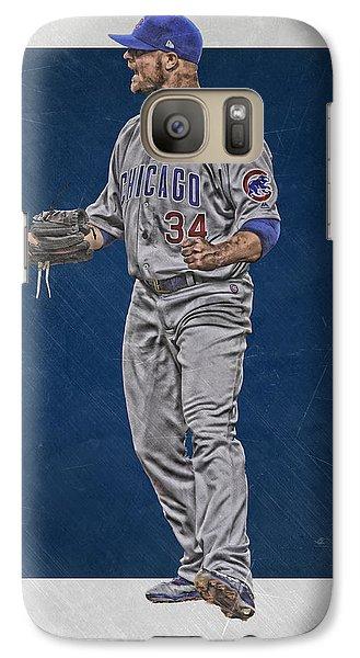 Chicago Cubs Galaxy S7 Case - Jon Lester Chicago Cubs Art by Joe Hamilton