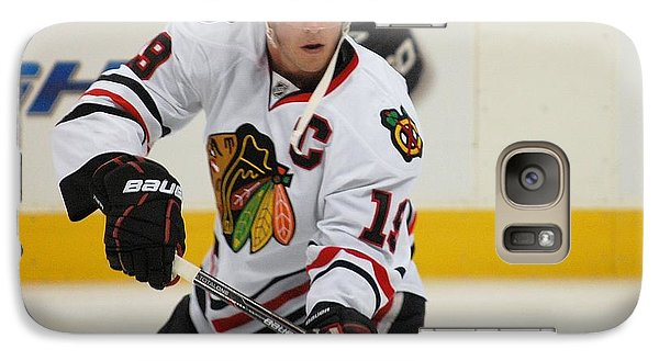 Galaxy Case featuring the photograph Jonathan Toews - Action Shot by Melissa Goodrich