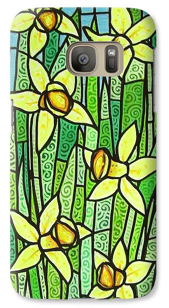 Galaxy Case featuring the painting Jonquil Glory by Jim Harris