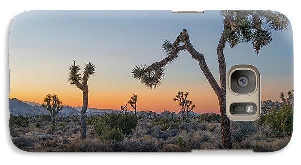 Desert Galaxy S7 Case - Joshua Sunset by Joseph Smith