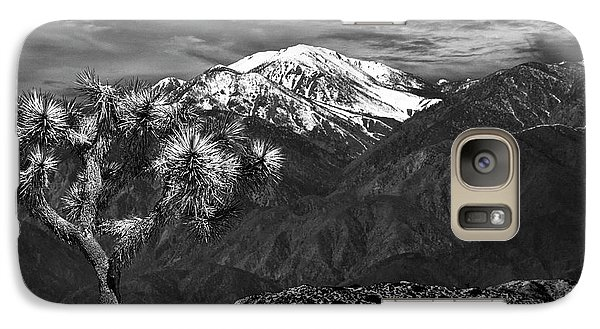 Galaxy Case featuring the photograph Joshua Tree At Keys View In Black And White by Randall Nyhof